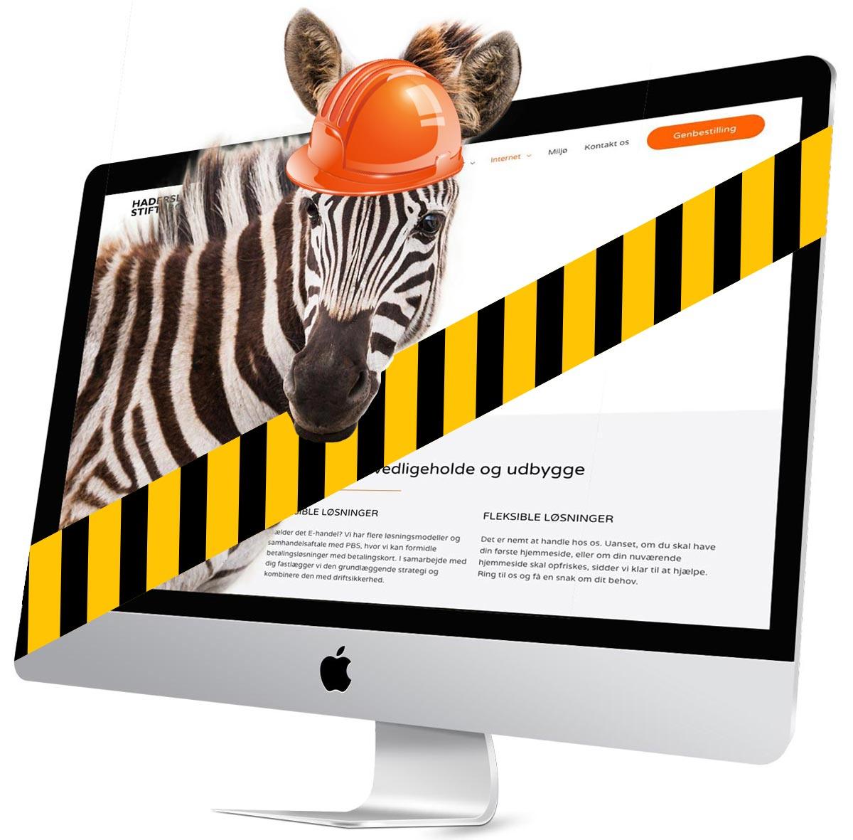 Zebra service af hjemmeside